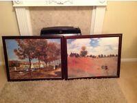Set of 2 Wall art prints framed