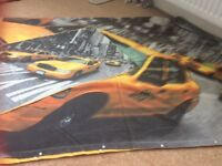 BOYS DUVET COVER WITH NEW YORK TAXIS ON SO COOL SINGLE SIZE