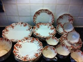 31 pieces of Beautiful fine floral design bone china plates cups saucers etc