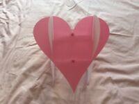 Heart bedroom lamp shade