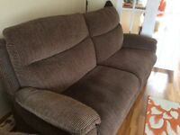 3seater settee and electric powered reclining chair