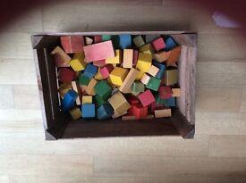 Children's wooden bricks