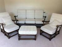 Ercol used 3 piece suite+ footstool