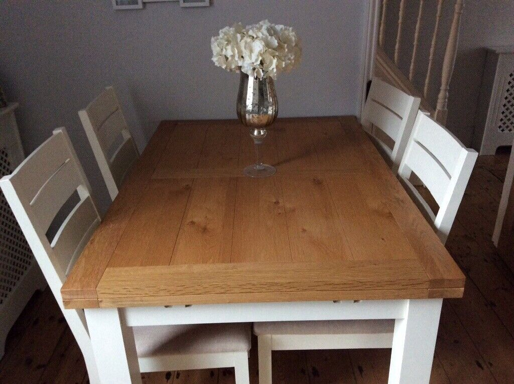 Prime Furniture Village Compton Range Solid Oak Extendable Dining Room Table And Four Chairs In Burgess Hill West Sussex Gumtree Home Interior And Landscaping Ologienasavecom