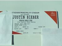 JUSTIN BIEBER TICKETS SEATED CARDIFF- BARGAIN!!!