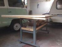 Large work bench.