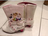 Girls Tinkerbell boots, size young 10.
