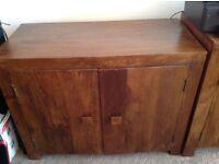 Solid wood 2 door cupboard