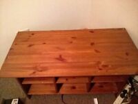 Solid pine coffee table with storage compartments