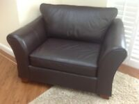 Marks and Spenser Abbey Leather Sofa