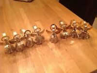 8 Plated Angel napkin rings
