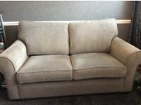 Two seater sofa bed settee, grey