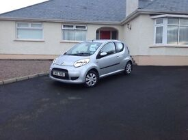 2009 Citroen C1 1.0 VTR 3 dr silver 80k miles fsh only £30 road tax, low insurance + black 3 door