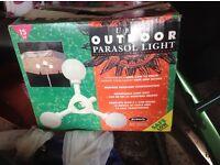 Outdoor parasol light