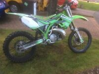 Kawasaki KX250 motorbike