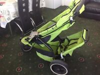 Phil and Teds green double buggy