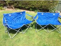 2 x double folding chairs