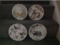 Set of 4 Royal Albert bone china. The country walk collection.