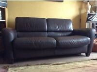 IKEA LEATHER SOFA FOLD DOWN DOUBLE BED COST OVER £700 BARGAIN ONLY £50!!