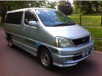 TOYOTA REGIUS 2.7 AUTO, 8 SEATS, NEW SHAPE, LOW MILES, PRIVACY CURTAINS, BODYKIT, CAMPER DAY VAN
