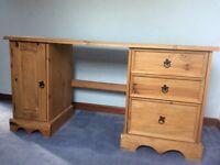 Antique look pine desk
