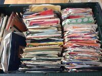 5 large crates of vinyl singles 1950s to 1990s