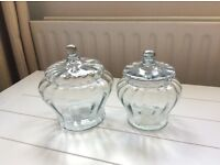 Laura Ashley Glass Lidded Storage Jars RRP £32