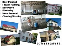 painting service Spray painting. Price start from 3£ per square meter-all inclusive