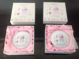 Girls Keepsake porcelain Trinket Box, Baby Photo Album