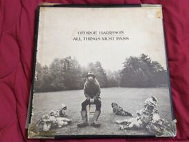GEORGE HARRISON'S ALL THINGS MUST PASS BOX SET OF 3 LPs