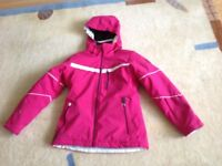 Girls ski jacket and salopettes age 9-10 years 140cms