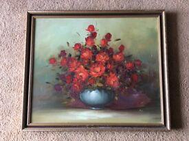 """""""Roses"""" medium sized painting"""