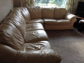 Sofa corner sectional, leather