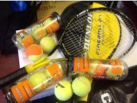 Tennis Racket, Balls & Cover