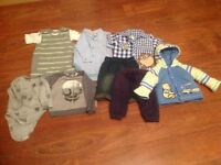 Bundle of baby boy clothes 3-9 months