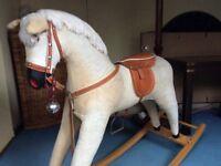 1980's corduroy rocking horse