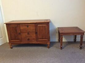 Sideboard and table