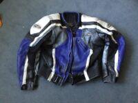 """Rst leather jacket blue/white/black size 42"""""""