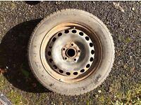 WINTER ON ITS WAY! 4 winter tyres on steel, 5-hole rims