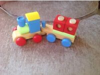 Wooden train....new never used...