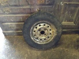 Wheel with tyre for Ford Escort Mk2