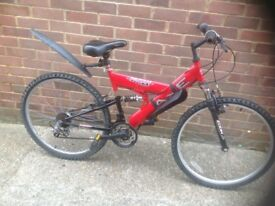 Adults Pagan Dual Suspension mountain bike 18 Speed