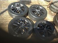 Vauxhall Astra H Black 5 stud Alloys.