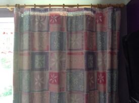 Single duvet cover, curtains and mat