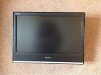 "Sony 20"" LCD Television + TV Swivel Wall Bracket"