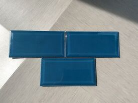 Lovely blue metro tiles approx 5m2. £50 Ono