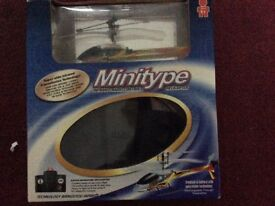 Minitype radio controlled helicopter