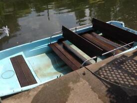 Boston whaler 13 ft dory boat and 5 hp engine