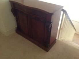 Mahogany small sideboard cupboard with drawer