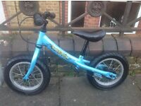 Blue, bike star balance bike in good condition suitable for 2 - 4 year old